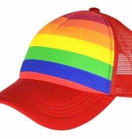 Pride Rainbow Striped Truckers Cap
