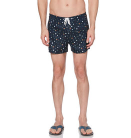 Penguin Party Print Box Fit Swim Shorts