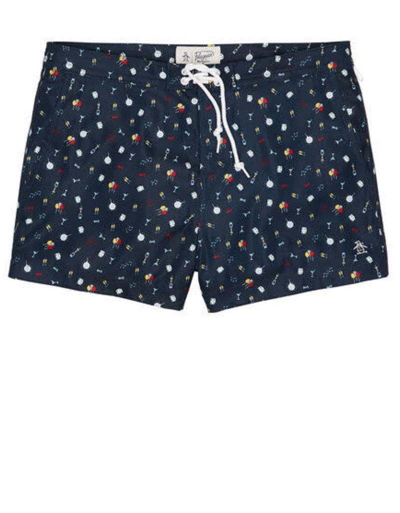 Penguin Party Print Box Fit Swim Shorts