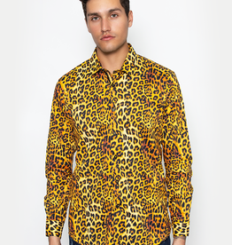 Barabas Leopard Print Long Sleeve Shirt
