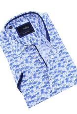 Eight X Blue Flamingo Short Sleeve Shirt