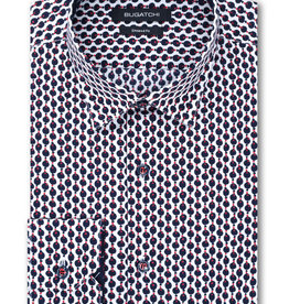 Bugatchi Bead String Print Shaped Fit Shirt