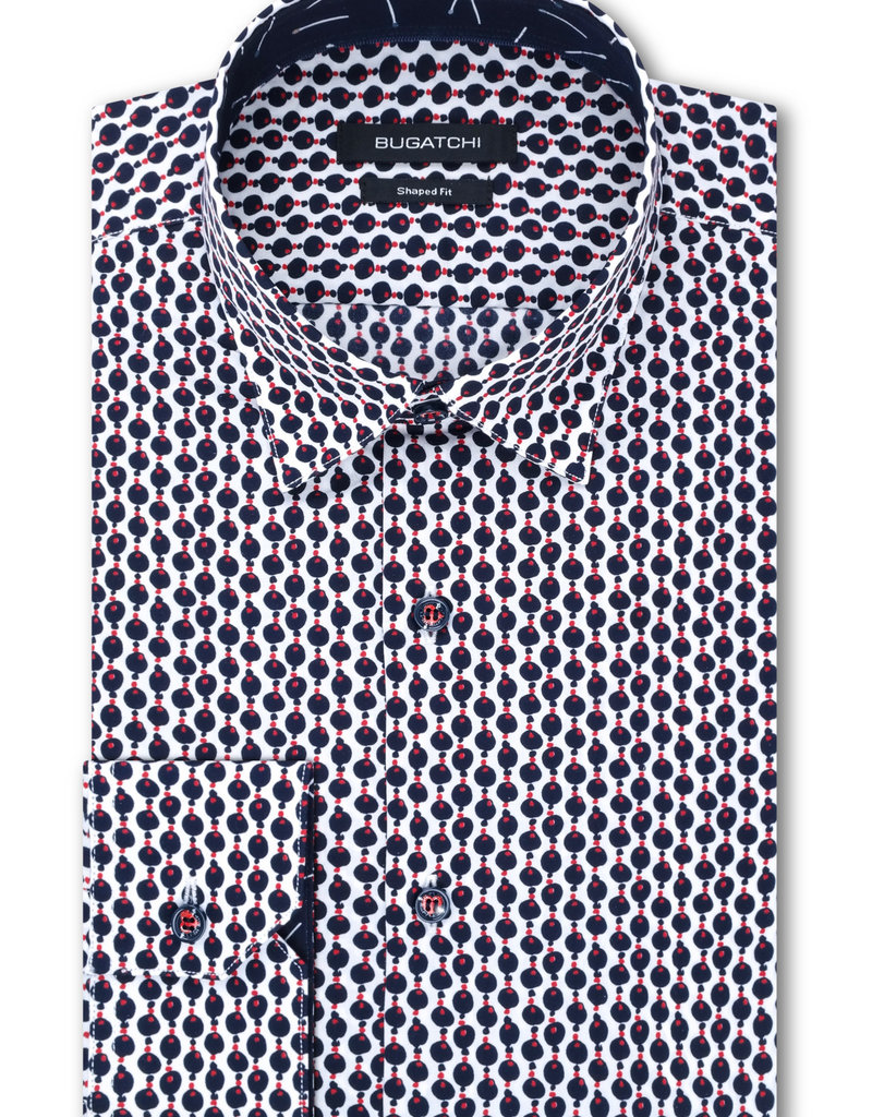 Bugatchi Bead Print Shaped Fit Shirt