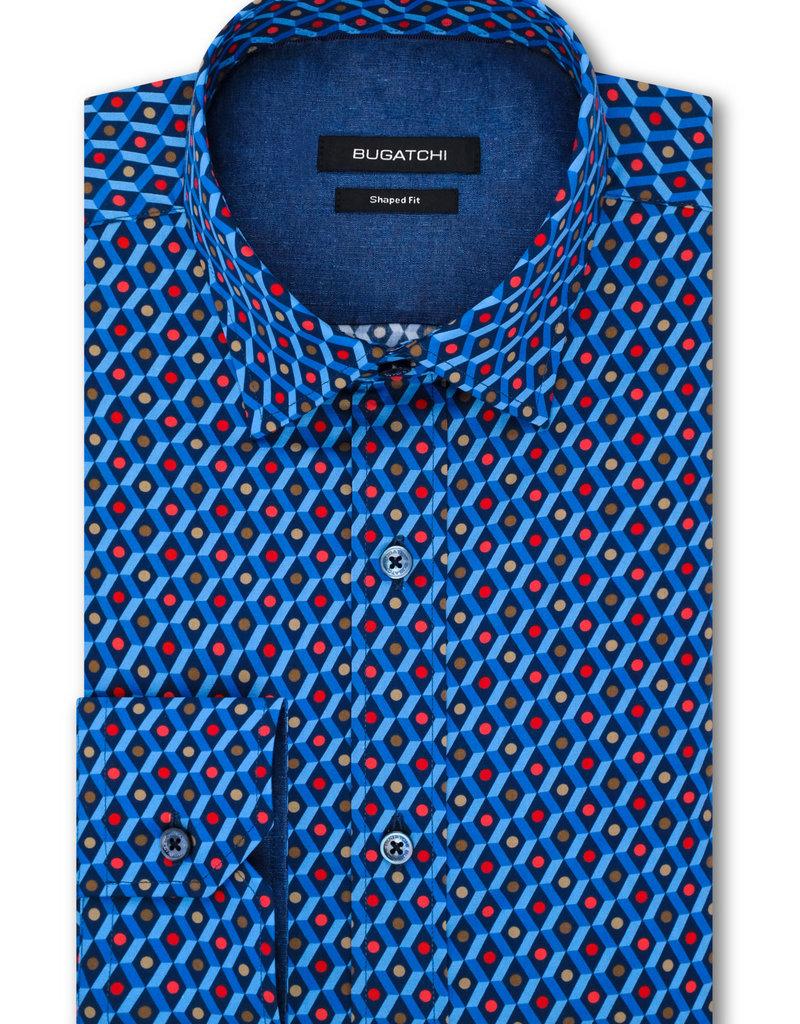Bugatchi Navy Diamond Classic Fit Shirt