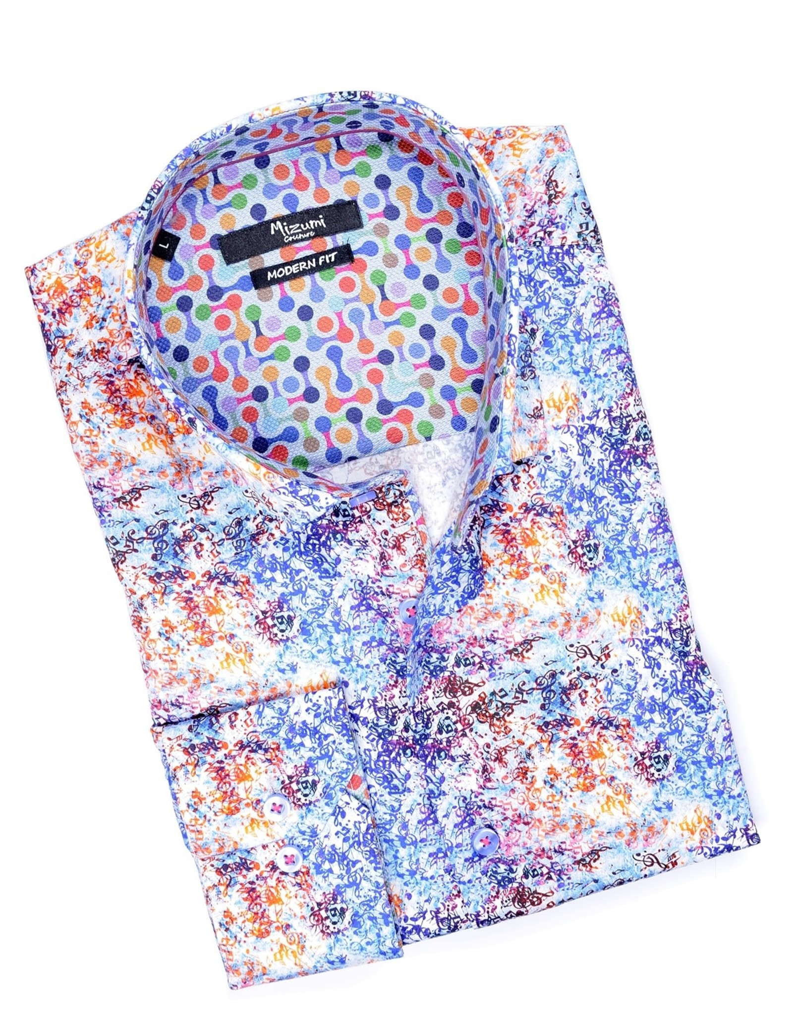 Mizumi Mizumi Multi Color Squiggles Long Sleeve Shirt