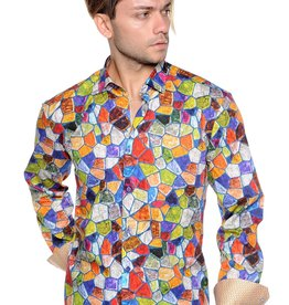 Mizumi Multi Color Mosaic Long Sleeve Shirt