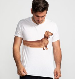 "Headline White ""Extra Long Wiener"" Tee"