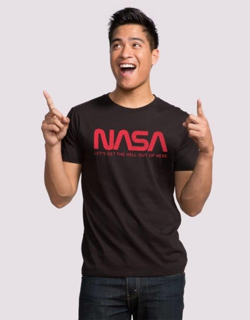 """Headline Black """"NASA"""" Tee"""