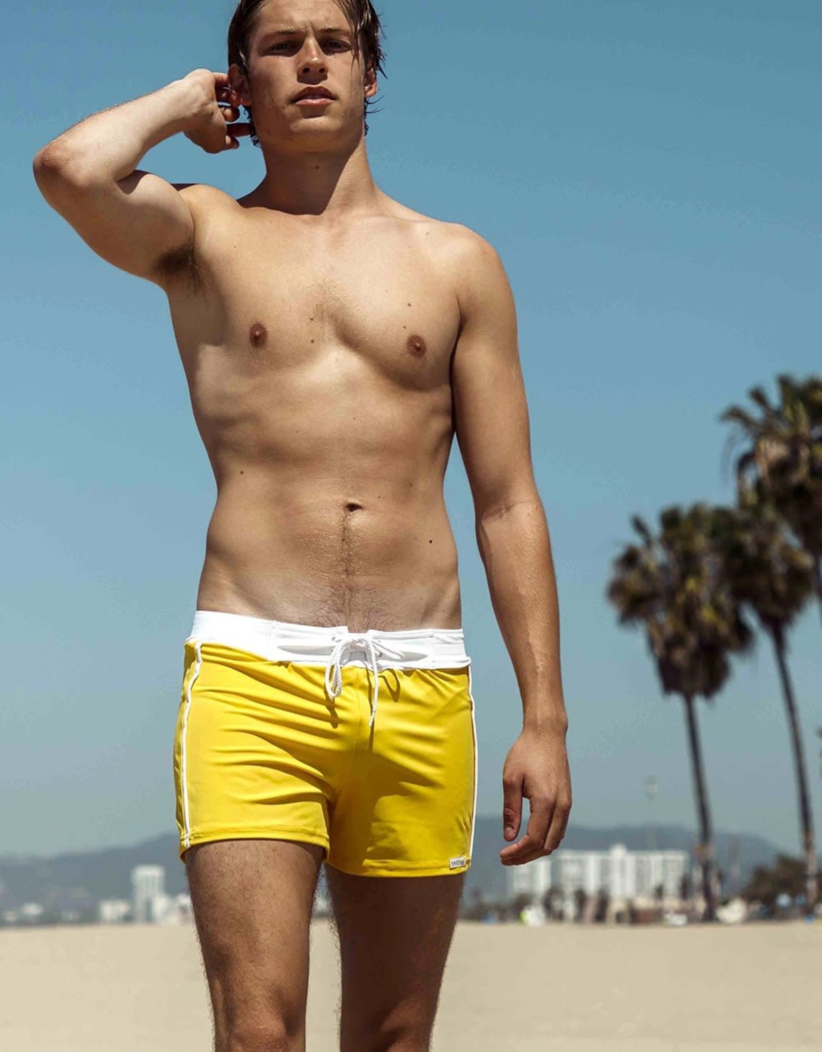 Sauvage Retro Banded Swim Trunk
