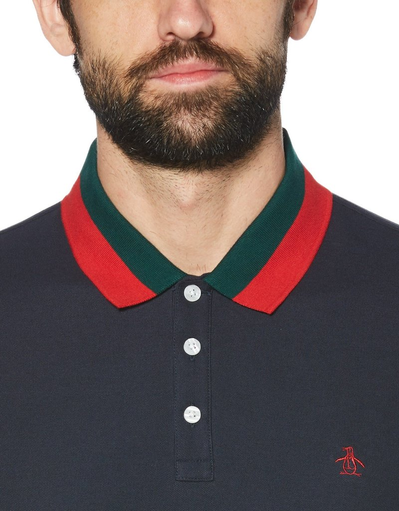 Penguin Penguin Striped Collar Polo