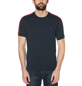 Penguin Penguin Navy Shoulder Striped T-Shirt