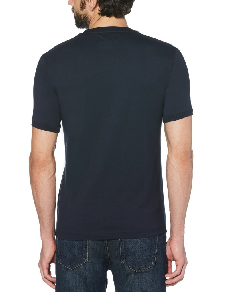 Penguin Penguin Navy Shoulder Detail T-Shirt