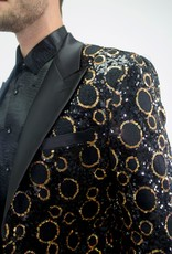 Barabas Blk/Gold Circles Blazer
