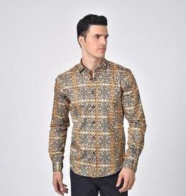 Eight X Gold Mandala Print Shirt