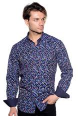 Mizumi Mizumi Multi Color Vine Flocked Shirt