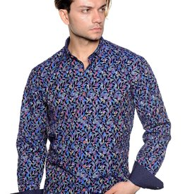 Mizumi Multi Color Vine Flocked Shirt