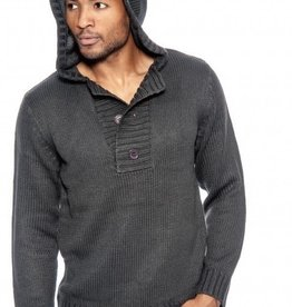 True Rock 3 Button Hoodie Sweater (2 colors)