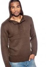 True Rock 3button Hoodie Sweater