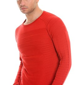 Mizumi Red Crew Neck Sweater