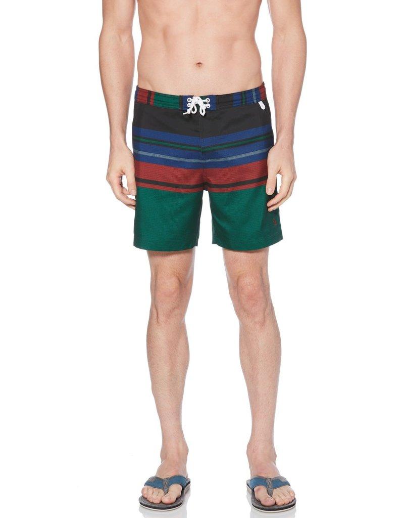 Penguin Blanket Stripe Swim Short