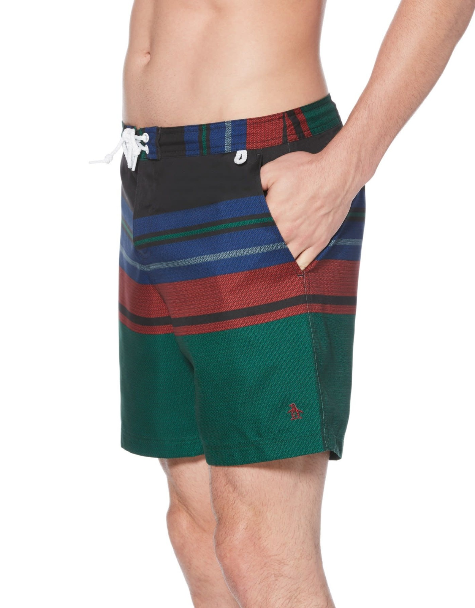 Penguin Blanket Stripe Swim Short