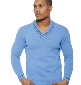 True Rock Shawl Collar Vneck Sweater