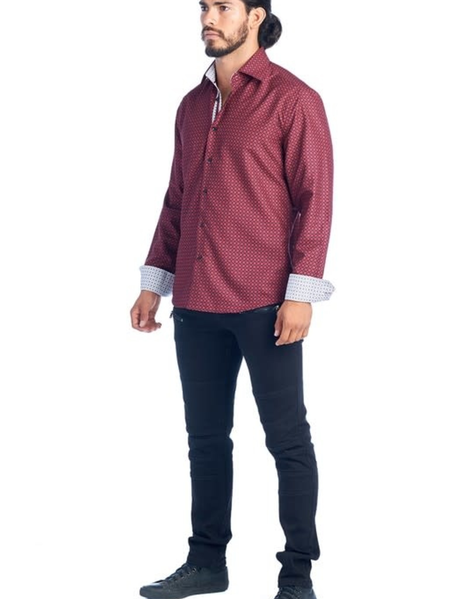 Hard Soda Burgundy Circle Shirt