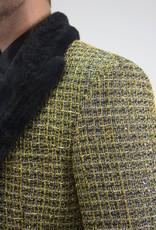 Barabas Blk/Gold w/Fur Collar Blazer