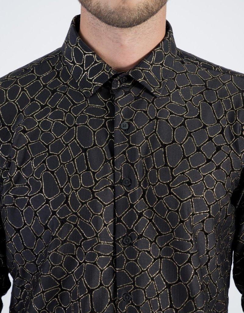 Barabas Barabas Black/Gold Dress Shirt