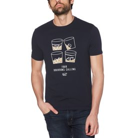 Penguin Blue 4 Bourbons Calling Tee