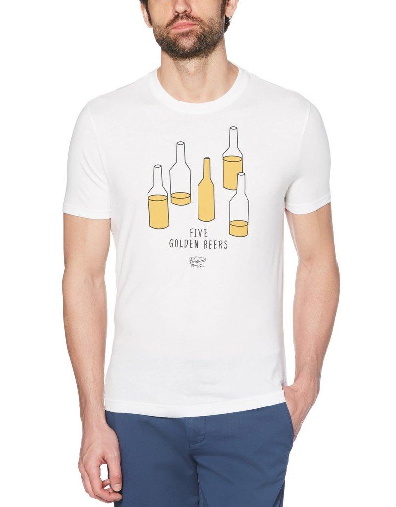 Penguin White 5 Golden Beers Tee