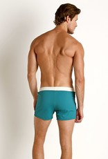 Sauvage Sauvage Varsity Stripe Swim Trunk