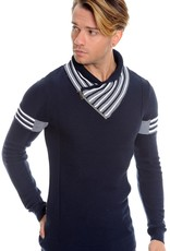 LCR High Collar Stripe Detail Sweater