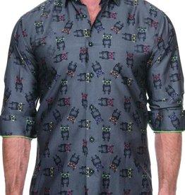 Maceoo Fibonacci Dog w/Glasses Shirt