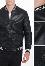 VIP Collection Blk/White Bomber Jacket