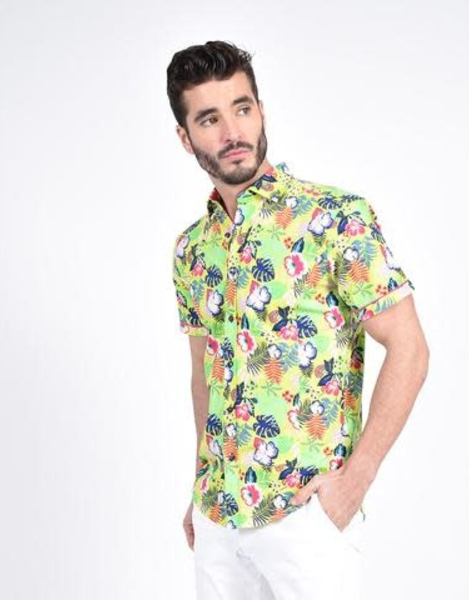 Eight X Hawaiian Print Shirt