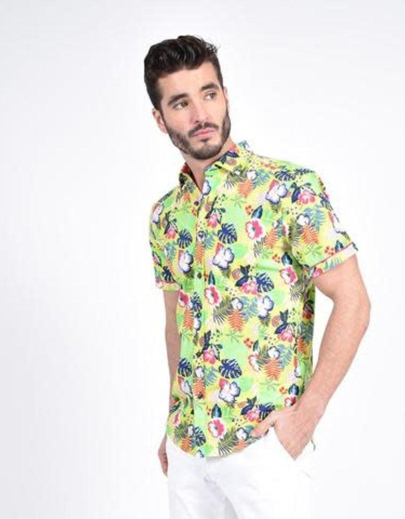 Eight X Hawaiian Print Shirt