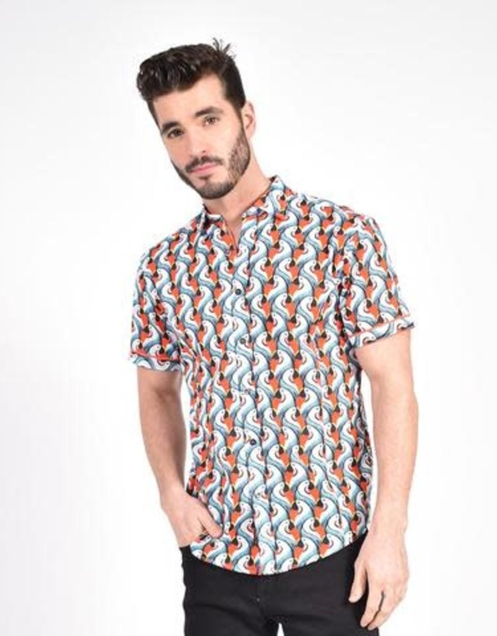 Eight X Parrot PopArt Print Shirt