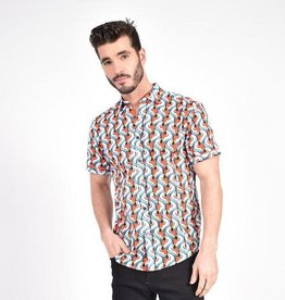 Eight X Parrot PopArt Print Shirt