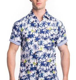 Urban Fitz Blue Palm Trees Shirt