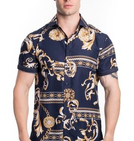 Urban Fitz Black/Gold Baroque Shirt