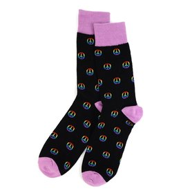 Selini Rainbow Peace Sign Socks