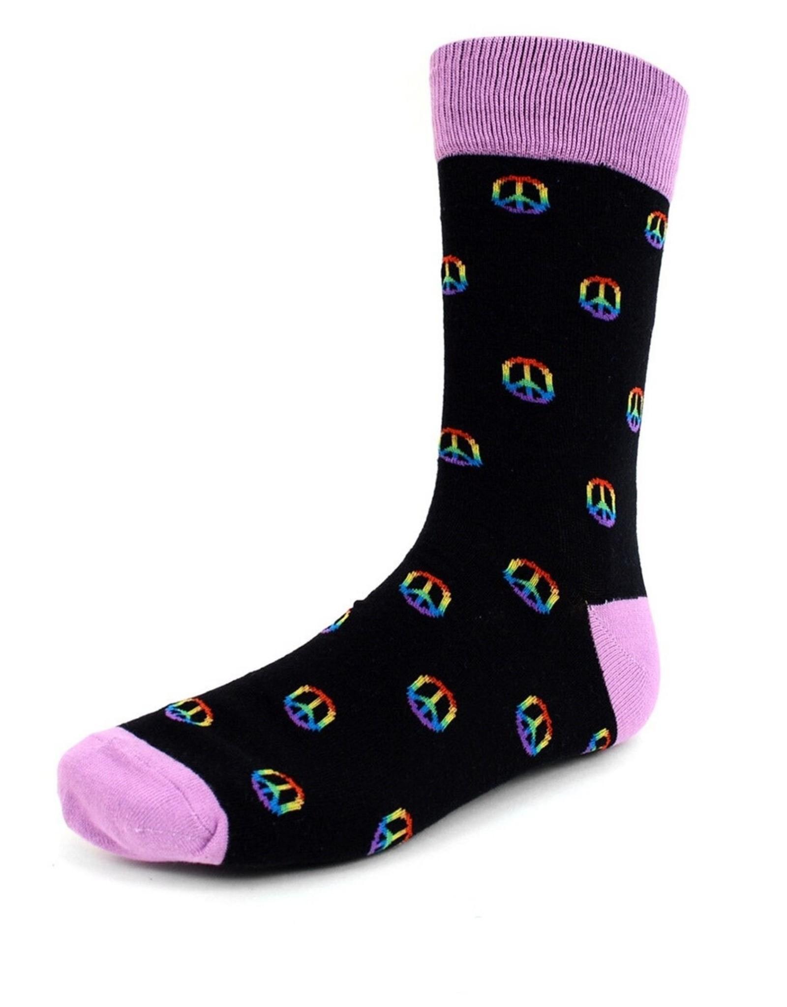 Selini Rainbow Peace Sign Socks