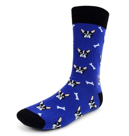 Selini Purple French Bulldog Socks