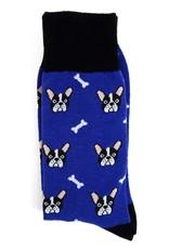 Selini Purple French Bulldog Socks