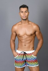 Andrew Christian Disco Pride Swim Shorts (in store purchase only)