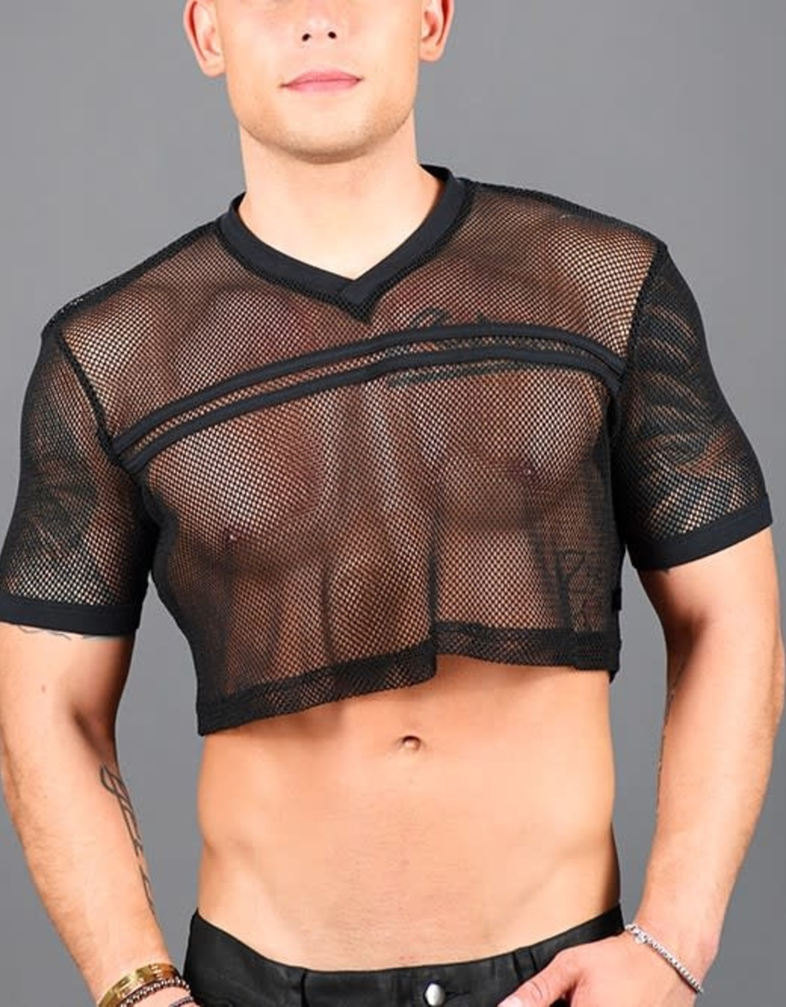 Andrew Christian Club Football Crop Tee