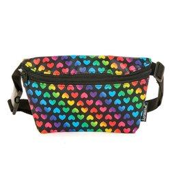 Fydelity Rainbow Hearts Fanny Pack