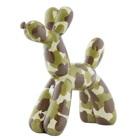 "Interior Illusions 12"" Camo Balloon Dog"