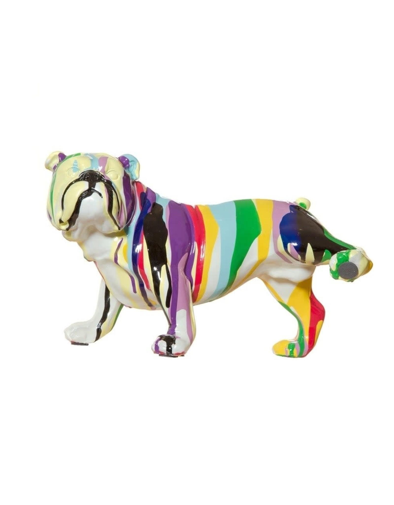 """Interior Illusions 10"""" Graffiti Bull Dog w/Leg Up"""
